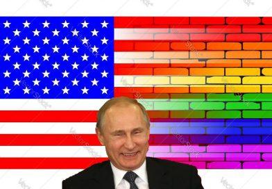 Putin se vysmál americké ambasádě za vyvěšení duhové vlajky!